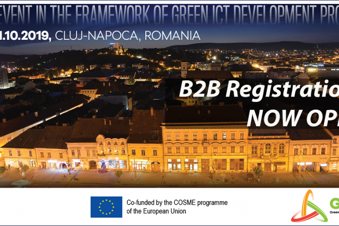 "ClujIT organizes ""Shaping a smarter and greener future together"" b2b event on October, 30th-31st at Cluj"