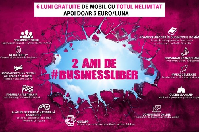 Telekom Romania is celebrating 2 years of #BUSINESSLIBER with an unprecedented winter holidays offer for companies