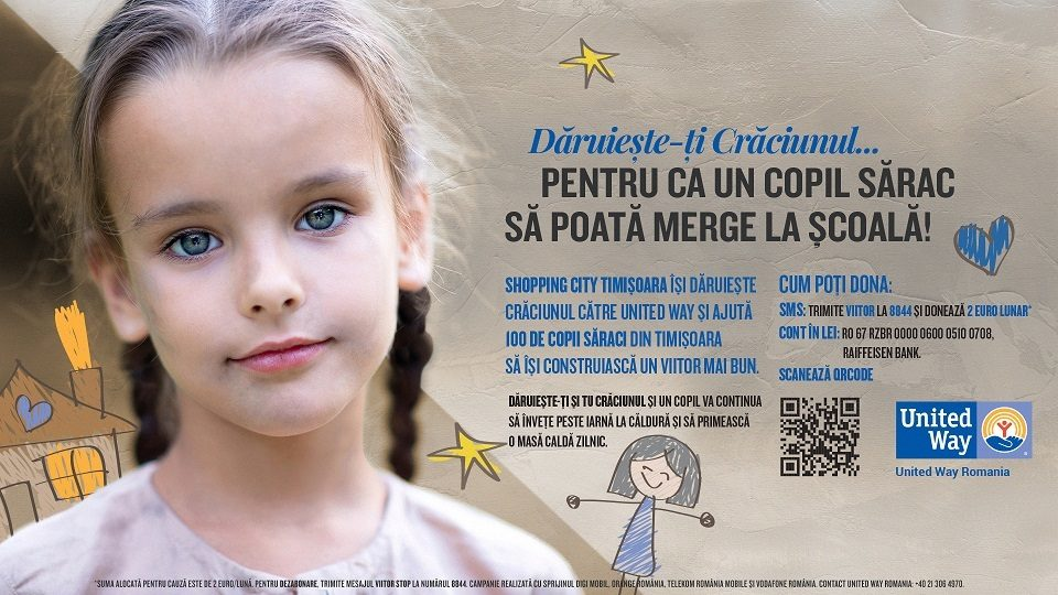 Shopping City Timisoara launches Christmas campaign for keeping 100 children in school