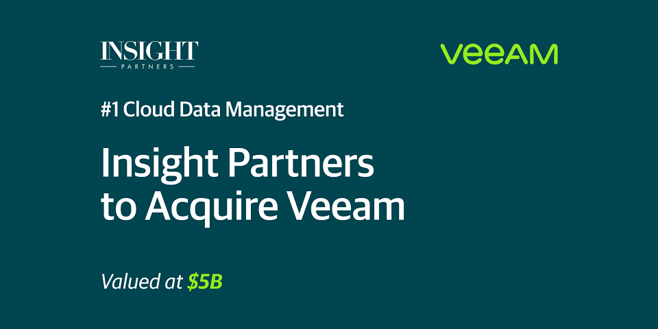 US-based Insight Partners to acquire Veeam in five billion US dollars' transaction