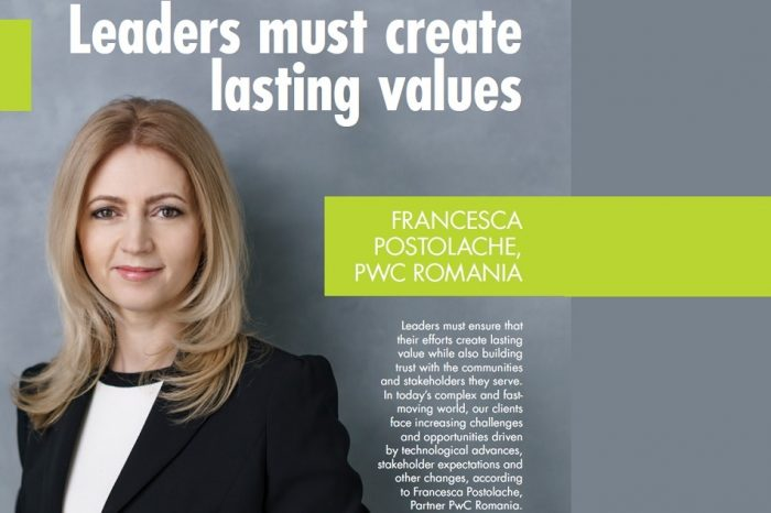 Francesca Postolache, PwC Romania: Leaders must ensure that their efforts create lasting value while also building trust with the communities and stakeholders they serve