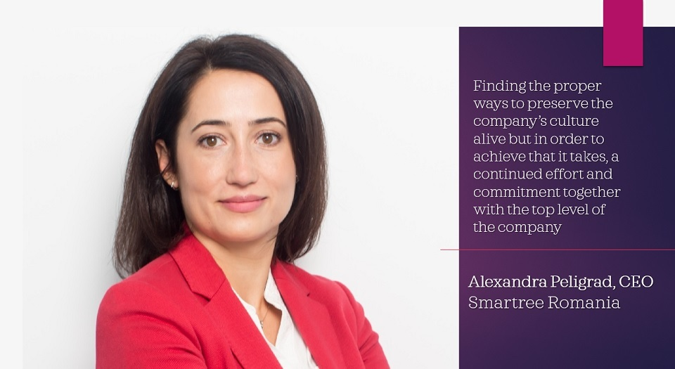 Interview with Alexandra Peligrad, CEO Smartree Romania: Companies should focus on going ahead with their plans, with the long-term investment projects, assuming their commercial orders and the payments