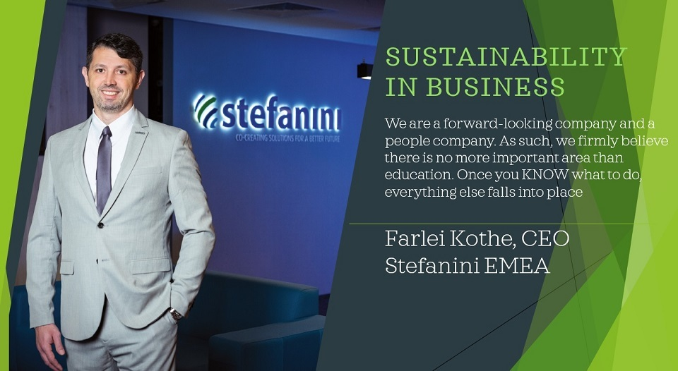 Sustainability in business, Farlei Kothe, CEO Stefanini EMEA: Everything starts and thrives with solid education