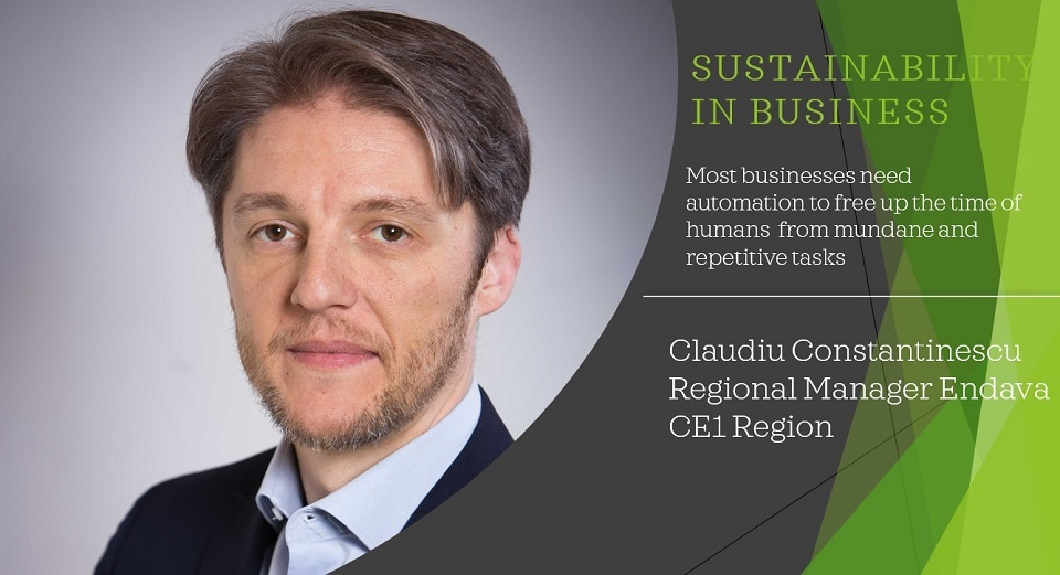 Sustainability in business: Claudiu Constantinescu, Regional Manager Endava, CE1 Region: Leaders shape the growth, define the culture and drive the delivery of promises