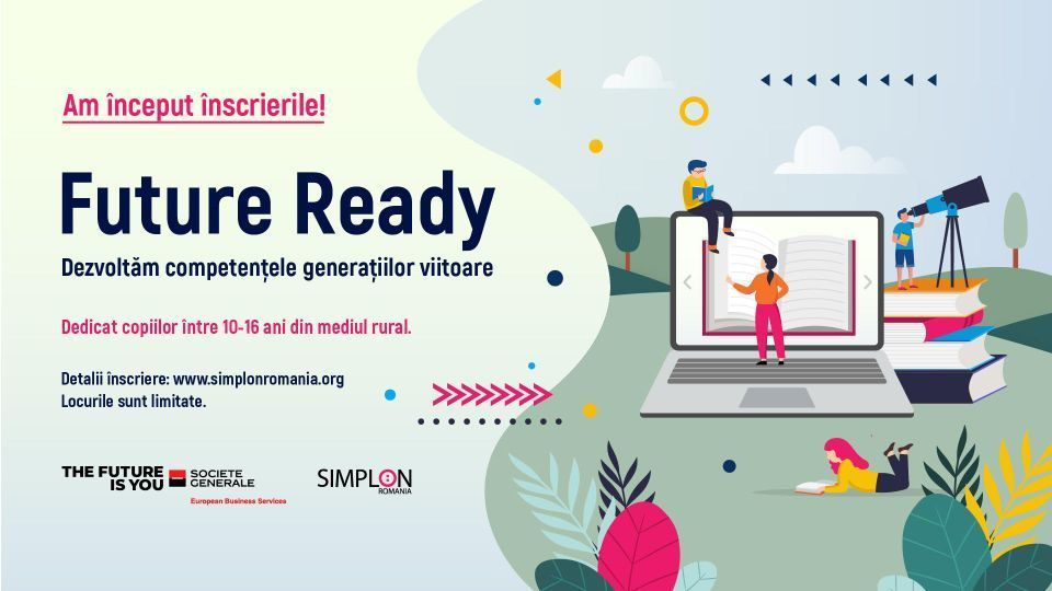 Simplon Romania and Societe Generale Business Services launch digital education project dedicated to rural children
