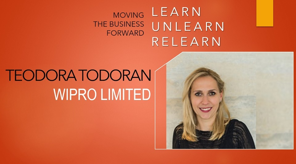 Teodora Todoran, Wipro Limited:  We have launched for the first time a Leadership program for Europe which is delivered 100% online