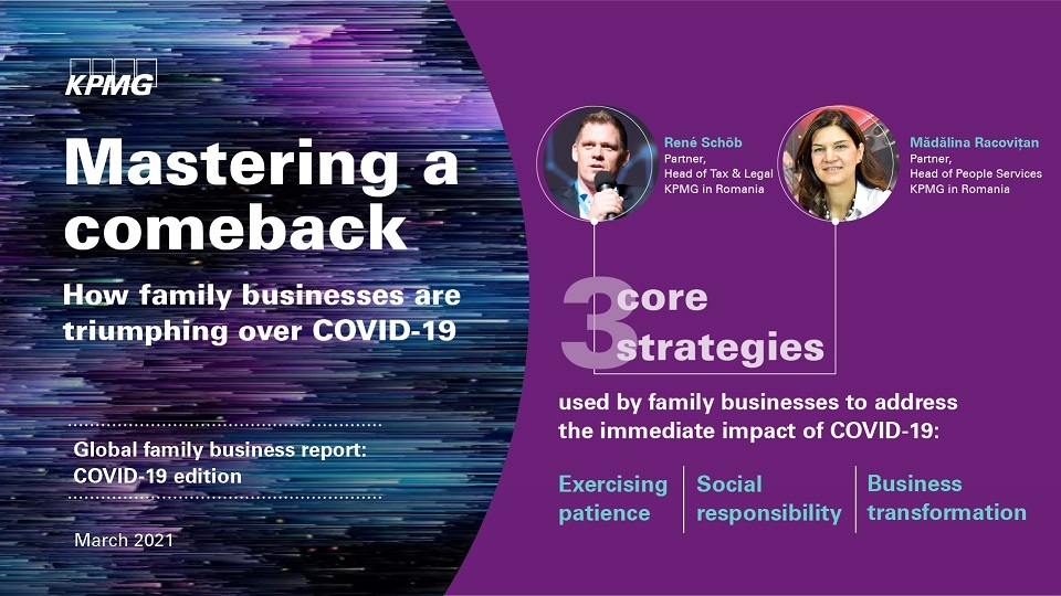 Family businesses are well-positioned to lead the revival of the global economy, with focus on Purpose, Community, and Patience new KPMG report finds
