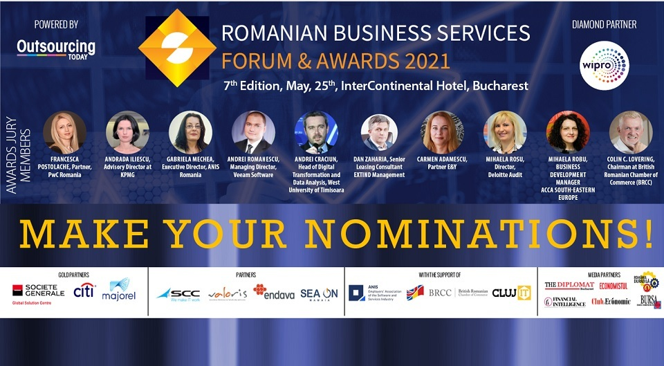 LAST CHANCE TO NOMINATE FOR this year's edition of ROMANIAN BUSINESS SERVICES AWARDS GALA!